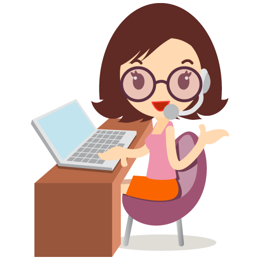 customer-service-girl-with-glasses-icon-29770